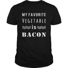 (Tshirt Discount Today) My Favorite Vegetable is Bacon [Tshirt design] Hoodies, Funny Tee Shirts