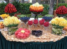 Beautiful fruit buffet