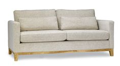 """The Ben sofa offers a classic look, coupled with an elegant wood base. The removable """"bolster"""" cushions give the flexibility for everyone to sit comfortably. Furniture Showroom, Living Room Furniture, Home Furniture, Modern Sofa, All Modern, Modern Furniture, Modern Brands, Bolster Cushions, Best Sofa"""