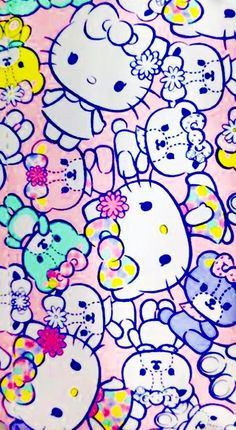 Image in Hello Kitty collection by May May on We Heart It Hello Kitty Backgrounds, Cute Wallpaper Backgrounds, Cute Wallpapers, Iphone Wallpaper, Hello Kitty Art, Hello Kitty Nails, Hello Kitty Characters, Sanrio Characters, Disney Princess Frozen