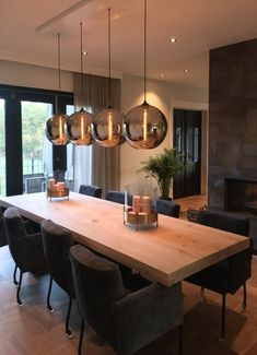 MaisonManon # Dining room You are in the right place about warm home decor Here we offer Home Decor Kitchen, Home Kitchens, Kitchen Dining, Dining Room Design, Dining Room Furniture, Furniture Ads, Sweet Home, Wooden Dining Tables, Modern Kitchen Design