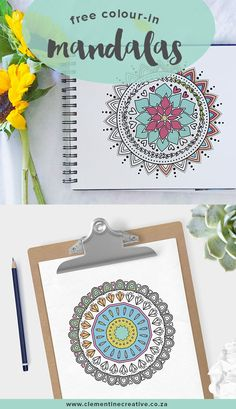 Printable Mandala Coloring Page from Clementine Creative