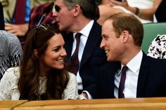 Catherine Duchess of Cambridge and Prince William Duke of Cambridge attend Wimbledon.