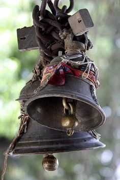 """Hindu Temple Bells ~ """"When one bell is rung, by the sound of that one bell other bells will also vibrate. So it is with the dancing of the soul...it produces its reaction, and that again, will make other souls dance."""" ~ Hazrat Inayat Khan"""