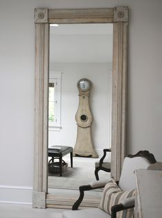 Swedish mirror, clock