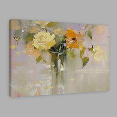 Peint à la main A fleurs/Botanique Format Horizontal,Artistique Un Panneau Toile Peinture à l'huile Hang-peint For Décoration d'intérieur de 2017 ? $102.59
