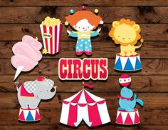 Toppers de cupcake de circo cumpleaños por MyHeartnSoulBoutique