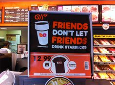 Custom t-shirt with great marketing message by #dunkindonuts #NYC