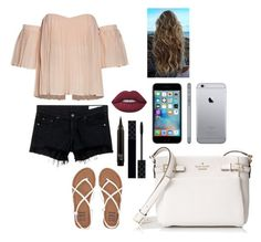 """""""A day shopping"""" by peters-k on Polyvore featuring rag & bone/JEAN, Billabong, Lime Crime, Gucci and Kate Spade"""