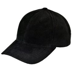 Black Suede Leather Baseball Cap ($30) ❤ liked on Polyvore featuring accessories, hats, baseball cap, black hat, baseball caps hats, black baseball cap and black baseball hat