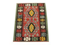 Hand Woven Turkish Oriental Kilim Rug by kilimwarehouse on Etsy, $285.00
