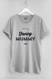 T-shirt femme Fancy Mummy 100% coton bio gris
