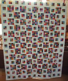 in series to use up scraps - 2 inch strips - Quilting Board Scrappy Quilt Patterns, Jellyroll Quilts, Scrappy Quilts, Easy Quilts, 16 Patch Quilt, Quilt Blocks, Quilting Designs, Quilt Design, Quilting Ideas