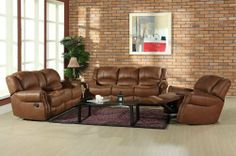 Living Calabasas 3-piece Reclining Set by Abbyson Living. $2352.75. Armchair features glider and reclining function. Loveseat features manual dual-reclining functions. Loveseat features entertainment console. Sofa features manual dual-reclining functions. Abbyson Living has been Americas leading home furnishings brand since 1989. Abbyson Living features award winning designs, which represent genuine quality and craftsmanship by only using the finest wood and raw materials. We h...