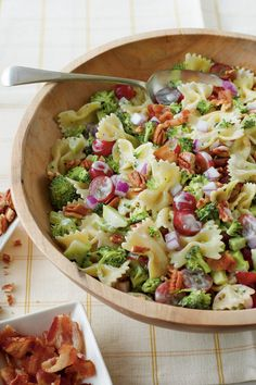 Broccoli Recipes: Broccoli, Grape, and Pasta Salad