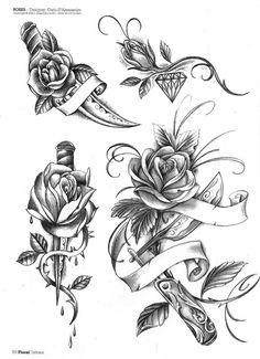 Floral tattoo idea