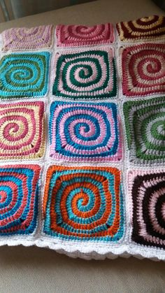en espiral Blanket, Crochet, Spirals, Crocheting, Ganchillo, Blankets, Cover, Comforters, Knits