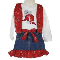 They sell these in every Texas airport and gift shop.  Yes, my daughters had multiple outfits like this, in different colors and they wore them all through grade school - and we live in the city (in Texas), not on a farm. Little girls love them and they look sooo cute on!