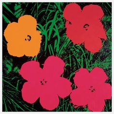 Andy Warhol Flowers Poster 26x26 in Archival Paper by BoomerangInc, $70.00