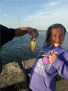 Shores & Islands photo contest entry: My First Catch, Girls Rock.via @Ohio's Lake Erie Shores & Islands