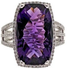 14K White Gold 8.43ct Purple Amethyst & 0.36ct Diamond Halo Ring Size 6.75. Amethyst jewelry. I'm an affiliate marketer. When you click on a link or buy from the retailer, I earn a commission.