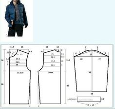 Amazing Sewing Patterns Clone Your Clothes Ideas. Enchanting Sewing Patterns Clone Your Clothes Ideas. Mens Sewing Patterns, Sewing Paterns, Sewing Men, Coat Patterns, Clothing Patterns, Make Your Own Clothes, Diy Clothes, Sewing Blouses, Jacket Pattern