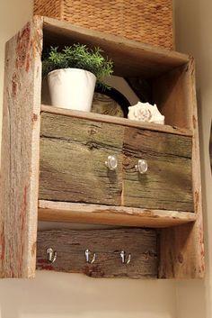 DIY Barnwood Bathroom Cabinet