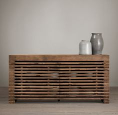 Reclaimed Timber Slat Sideboard Restoration Hardware
