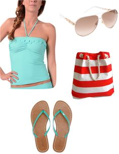 """Beach Attire"" by slee62899 ❤ liked on Polyvore"