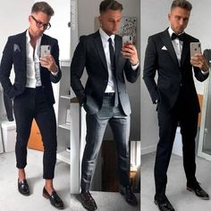 Suit and Tie Bulges Outfit Hombre Formal, Stylish Men, Men Casual, Groomsmen Tuxedos, Wedding Tuxedos, Gym Style, Mens Fashion, Fashion Outfits, Gym Fashion