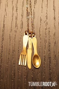 Time for Dinner Necklace, wat leuk!