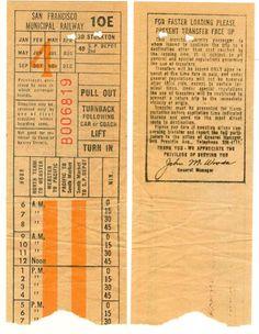 Transfer from San Francisco (California) Municipal Railway (date unknown)