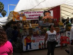 Alcohol mix drinks stand, Chapala, Jalisco