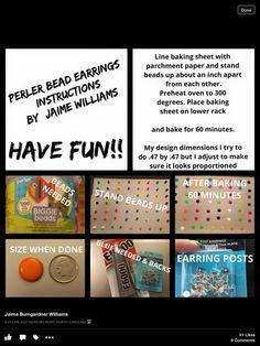 Add vinyl Mickey's, Monograms, lots of possibilities. Biggie Bead earrings