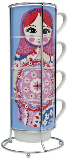 Russian Doll mug stack