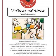 De Nederlandse Week tegen pesten is elk jaar aan het begin van het schooljaar. Dit pakket biedt activiteiten om tijdens deze week met kleuters in te gaan op het thema 'omgaan met elkaar'. Het project richt zich vooral op het creëren van een positief groepsklimaat door middel van gesprekken, spellen en creatieve opdrachten aan de hand van het boek Rikki van Guido van Genechten. Het pakket is ook buiten de 'Week tegen pesten' te gebruiken.  Door juf Els en juf Anke Preschool Social Skills, Yoga For Kids, Hey You, Internet Marketing, Hot, Back To School, Authors, Seeds, Online Marketing