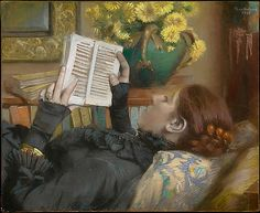 Albert Bartholomé, The Artist's Wife Reading, 1883 | Flickr - Photo Sharing!