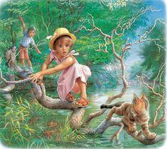 Drawings of Marcel Marlier known as Martine Marcel, Nostalgia Art, Pet Fish, Sarah Kay, Children's Book Illustration, Beautiful Paintings, Cute Drawings, Art History, Art For Kids