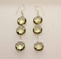 Awesome Olive Quartz Long Earrings . Starting at $1