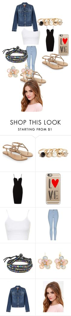 """""""Untitled #7938"""" by lover5sos ❤ liked on Polyvore featuring Accessorize, GUESS, Casetify, Topshop, AeraVida, Mixit, 7 For All Mankind, Lulu*s, women's clothing and women"""