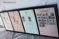 Magnetic Chore Chart by Notsoidlehands.com
