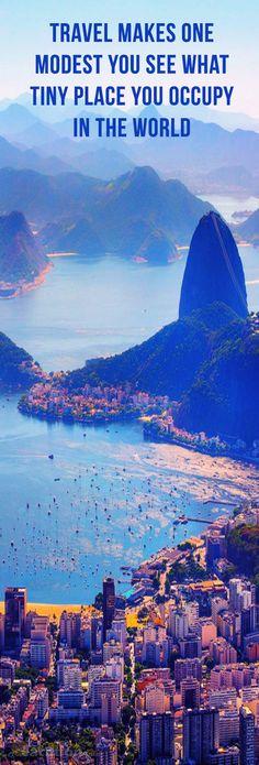 Aerial View Rio. Holidays in Rio de Janeiro #rio #beautiful #travel #tours #destination #place #world #amazing