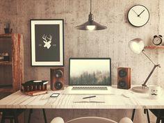 Minimal Desks - Simple workspaces, interior design : Photo
