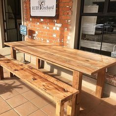 Custom made table and bench off to Umhlanga today!