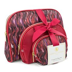 f706ad4347b8 Amazon.com   Adrienne Vittadini Women s Three Dome Shaped Cosmetic Bag Set    Everything Else