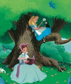 "Mary Blair's ""Alice In Wonderland"" Concept Art Walt Disney, Disney Love, Disney Magic, Disney Art, Disney Pixar, Mary Blair, American Horror Story, Heroes Disney, Disney Marvel"