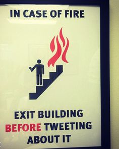 Sad that there are people who would be stupid enough to tweet or take video instead of exiting in an orderly fashion.