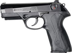 """Beretta PX4 Storm. I think this is a beautiful design, beautiful Italian lines, and it has some pretty nifty technological features (rotating barrel and such). I am reliably informed by those in the know, however, that looks ain't everything, and that this is pretty much for european man-bag carrying, crepe-eating, european-style-hockey fans. In short, """"real men"""" wouldn't be caught dead with it. I don't care, I think IT LOOKS COOL. Which is the whole point of this board...so...eat me."""