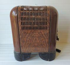 Art Deco gas heater. Streamline moderne. $60.00, via Etsy.