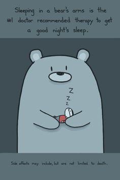 Sleeping in a Bear's Arms Art Print ($35) - Sebastien Millon / Art & Illustration